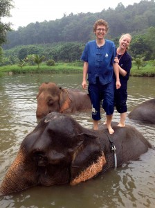 Visiting Baan Chang Elephant Park outside Chiang Mai during our Reconnaissance Vacation in 2013