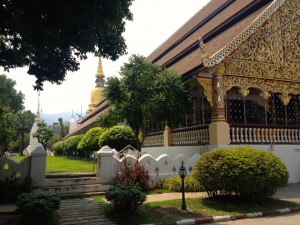The beautiful temple in our front yard: Wat Suan Dok.  Paradise, right?