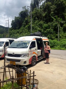 Our trusty van which got us safely up to Pai