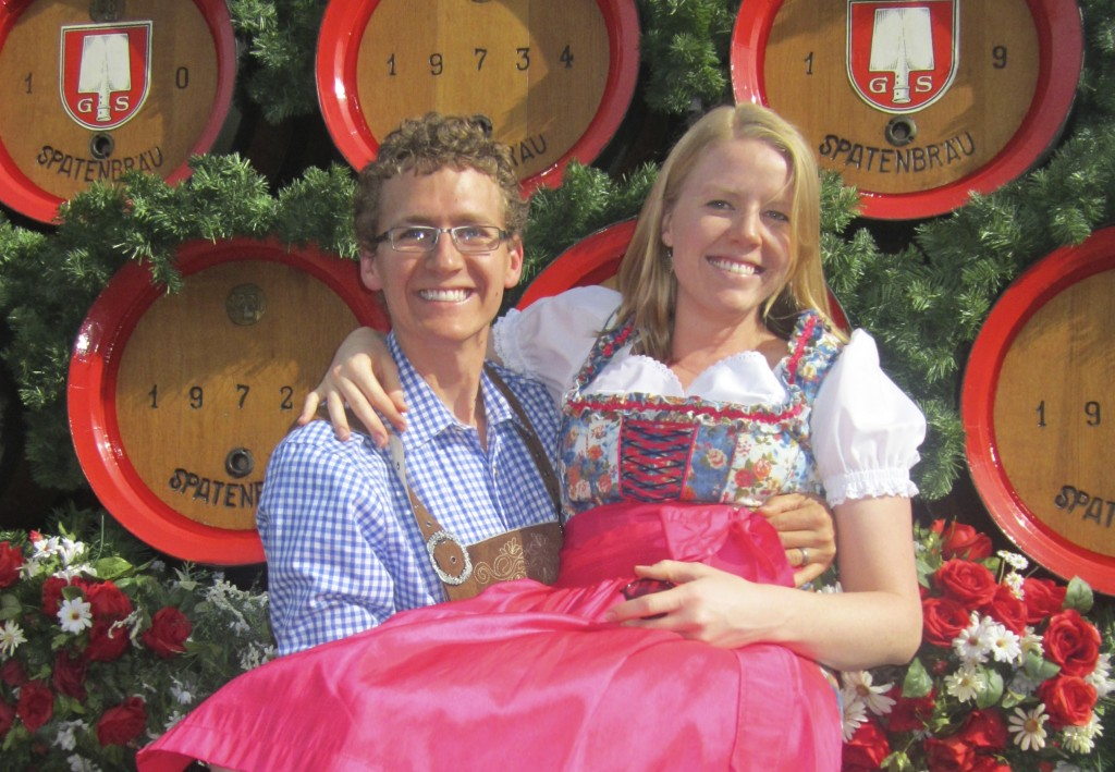 Evidence of our love for Germany, taken at Oktoberfest 2012 in Munchen