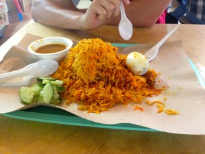 Chicken Nasi Biryani.  All this for S$5!