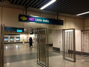 Inside the Little India MRT Station