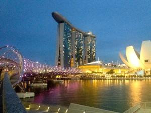 Awesome Views from The Helix Bridge!