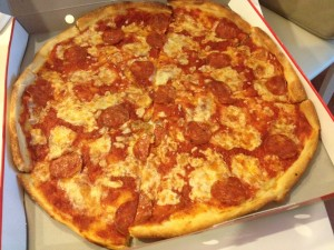 Delicious, wonderful, pepperoni pizza!