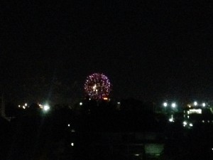 Fireworks in Chiang Mai over the Ping River