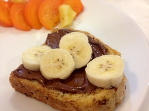 Delicious French Toast with Nutella and Bananas