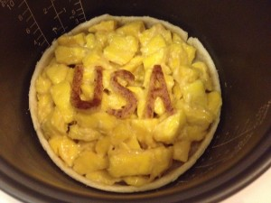 "Pre-cooked crust with Mangos and ""USA""!"