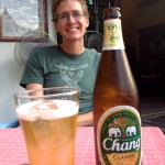 Iced Chang Beer at Why Not?, because iced is the only way we can stand to drink it...