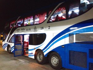 Our 1st Class Bus to Bangkok