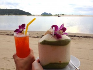 Heaven is a Mai Tai and Coconut on the beach!