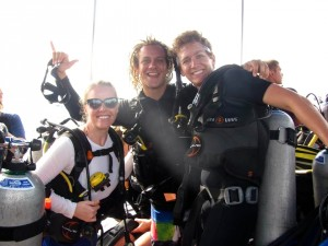 Mr. & Mrs. SCUBA, with our instructor Jack