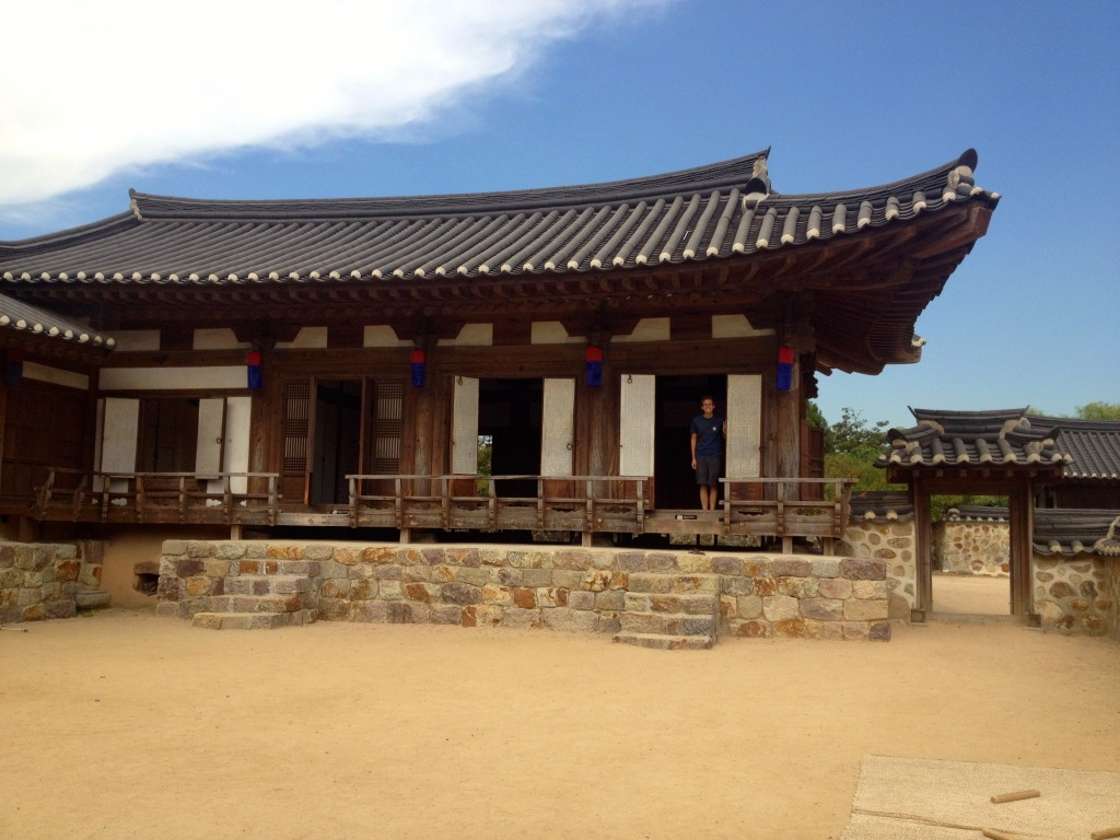 There were also replicas of traditional Korean houses.
