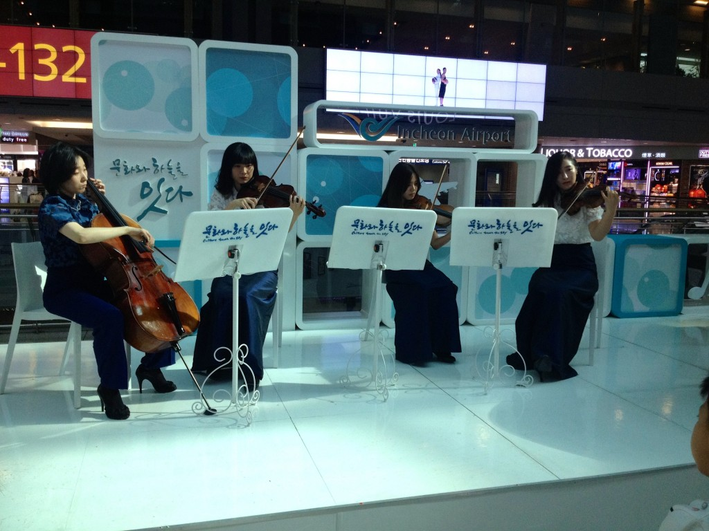 String Quartet in ICN Airport.