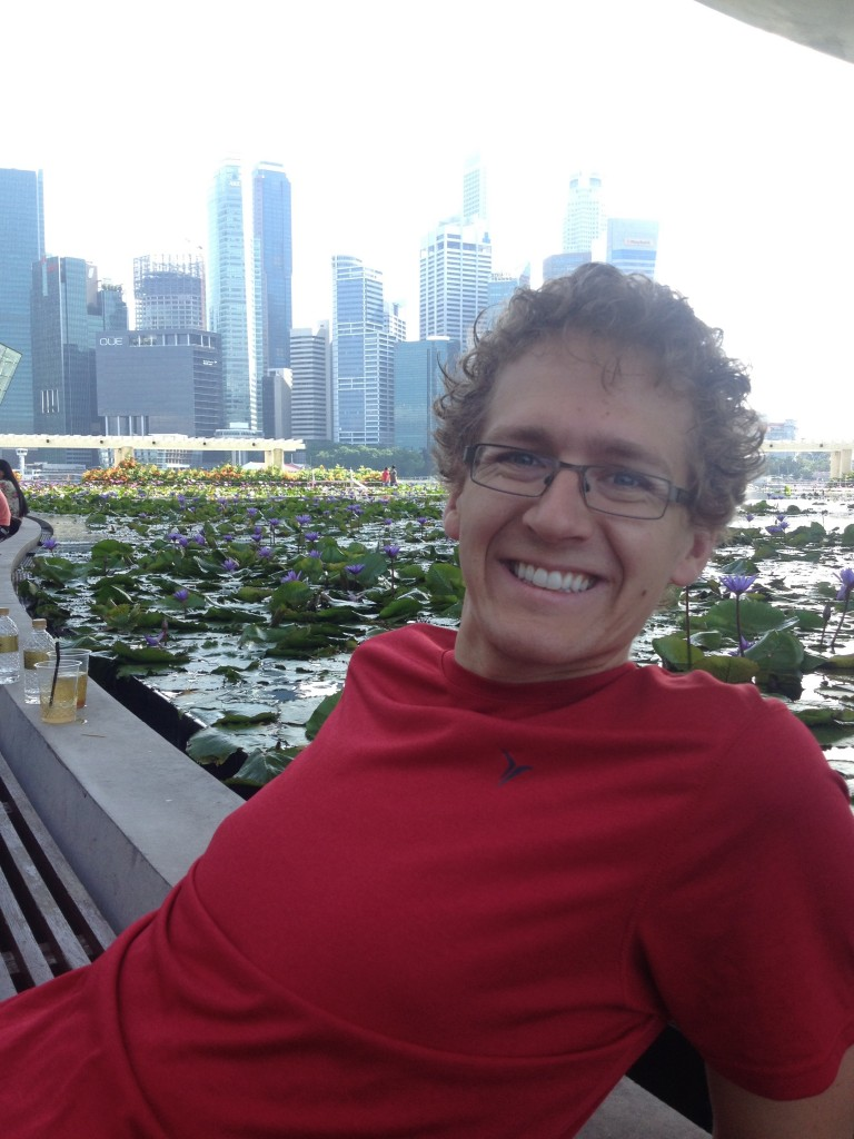 We had a great trip to Singapore (here's Kevin lounging in front of the skyline)