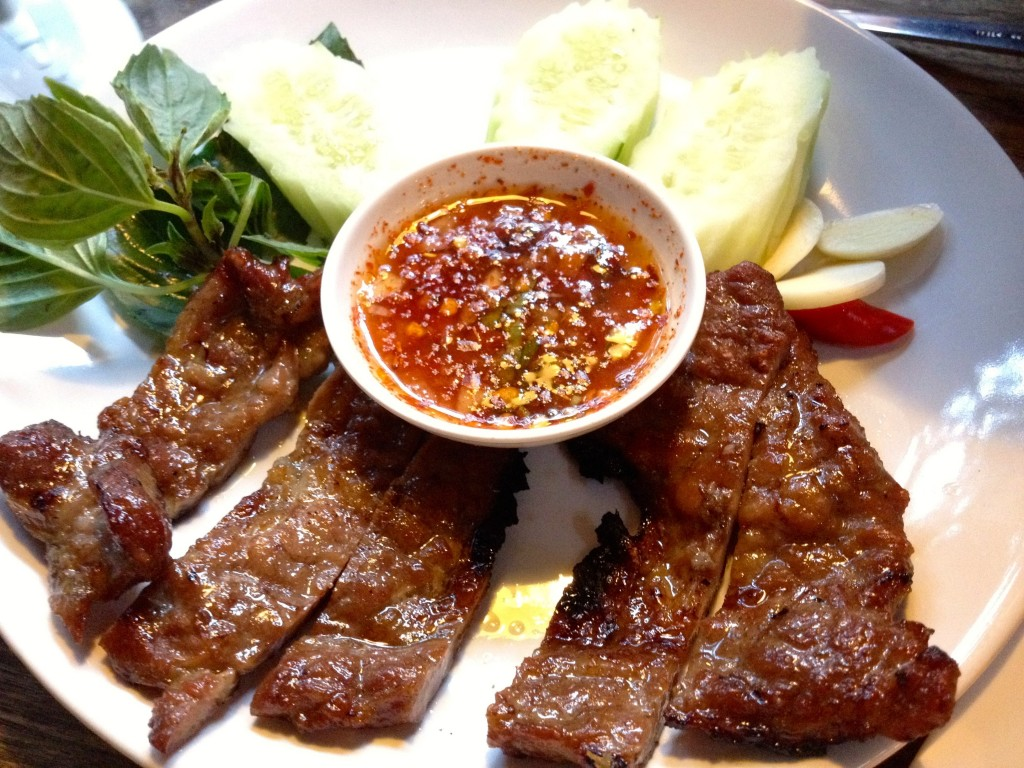 Steak Jaew or Pork Steak (60 Baht)