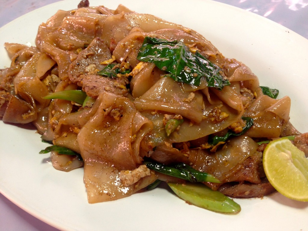 Pad See Iew Moo (Moo means pork, 30 Baht)