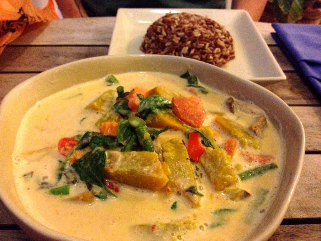 Pumpkin Red Curry, possibly the best curry I've ever had (95 Baht)