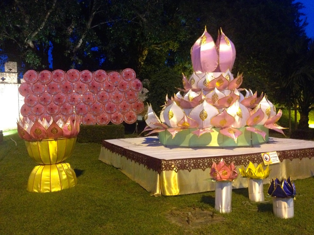 A Giant Krathong at Suan Dok Gate