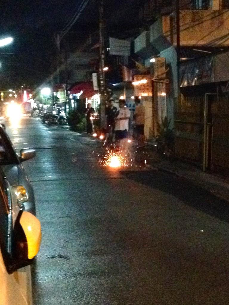 Our neighbors set off their fair share of fireworks!