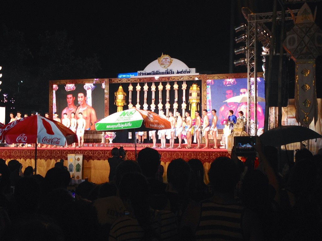 The Male Beauty Pageant near Thapae Gate