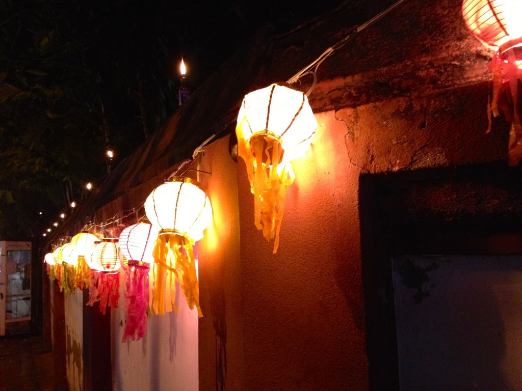 Lanterns outside of a Wat (Buddhist Temple) in Chiang Mai's Old City