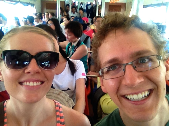Here We Are, Enjoying the Water Taxi Boat