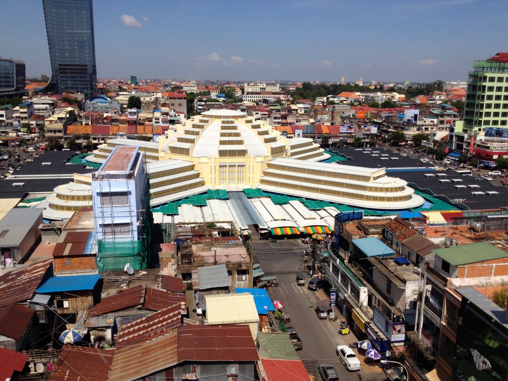 Last Stop, the Central Market. Here's an Arial View from the Neighboring Sorya Shopping Center.
