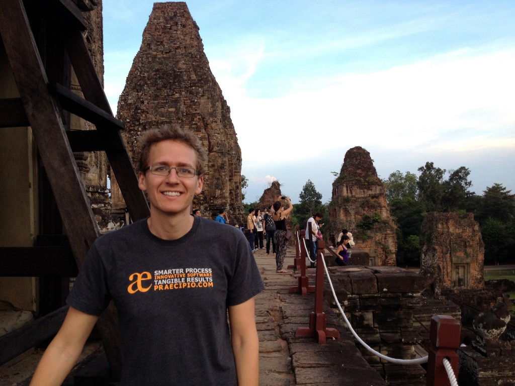 Waiting for sunset at the top of Pre Rup.