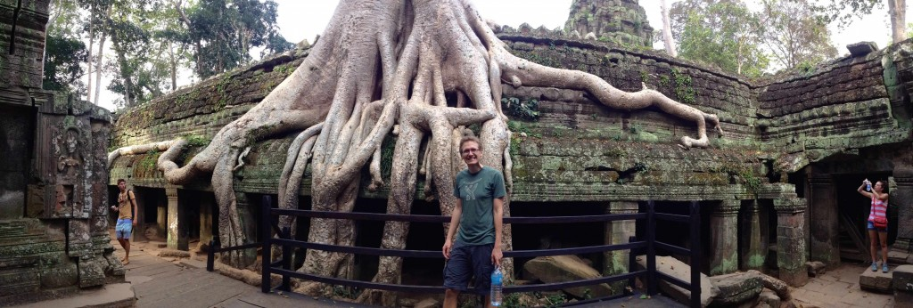 Ta Prohm. Those are some ginormous tree roots!
