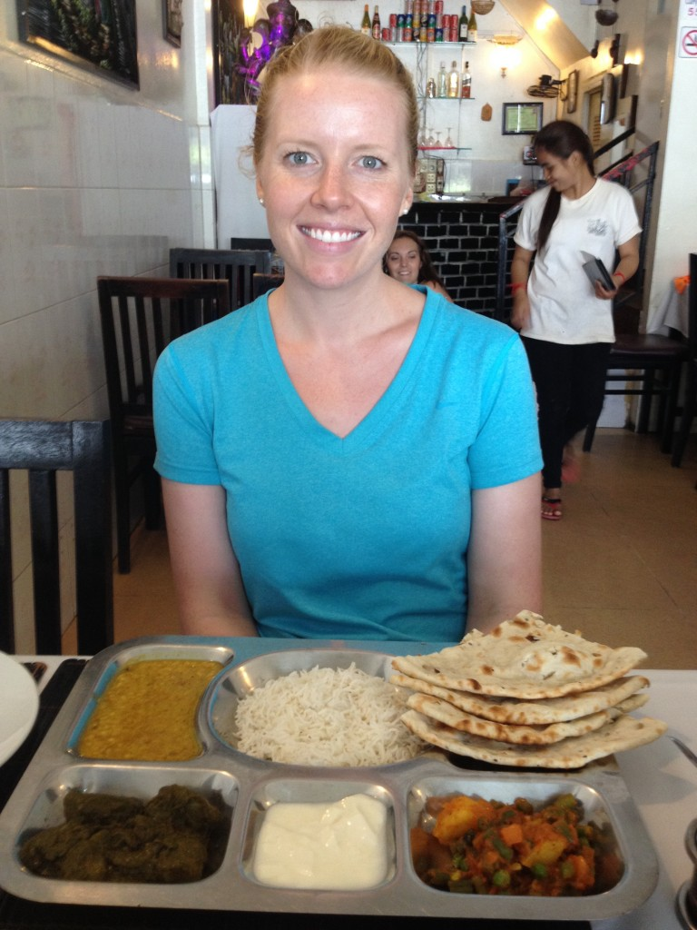 Curry Walla - A Thali plate with chicken costs just $5. Drinking water is free!
