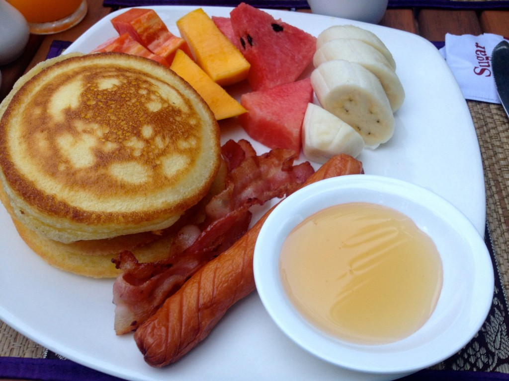 """Western Breakfast"" at most Southeast Asia hotels is usually white bread toast, a hot dog, and a bland egg scramble. But this... this magical breakfast... such a treat!"