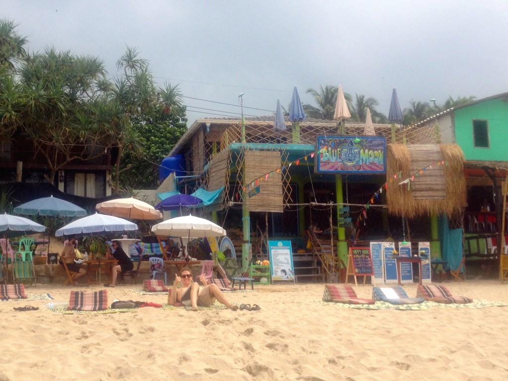 Blue Moon Bar, One of the Best Spots in Koh Lanta to Lay on the Beach.