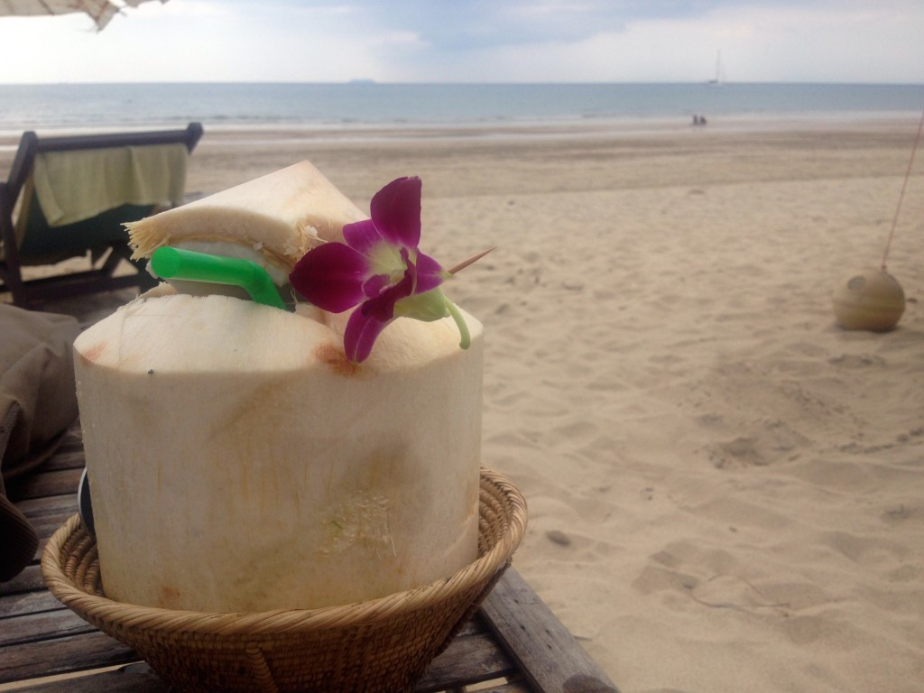 A Delicious Coconut at the Indian Bar