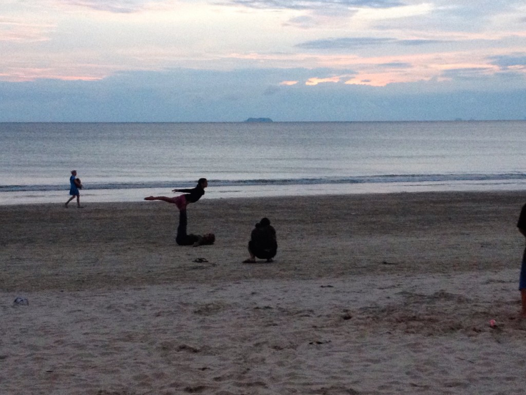 If You're Lucky, You'll See Some Sunset Acrobatics on the Beach.