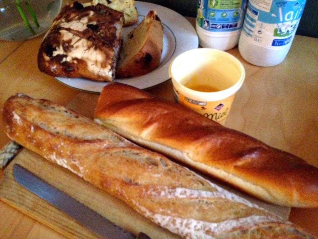 French Breakfast! The Viennoise bread is 2nd from the bottom.