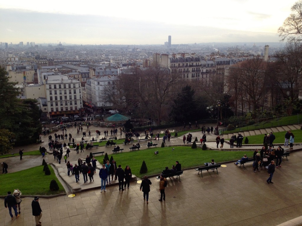 The wonderful view from the steps of Sacre Cœur.
