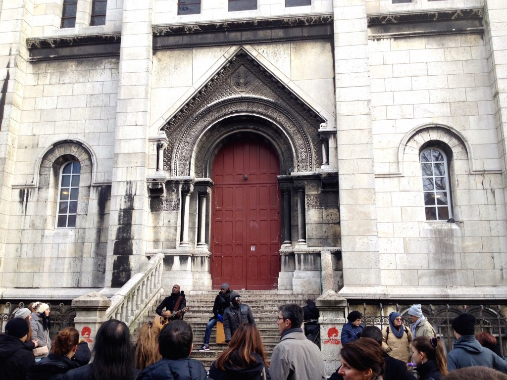 There was also a band playingnear a Sacre Cœur side door. I loved the impromptu music all over Paris!