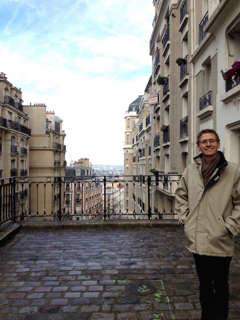Montmartre is one of the most fun neighborhoods to explore in Paris. Here's Kevin, at the very top.