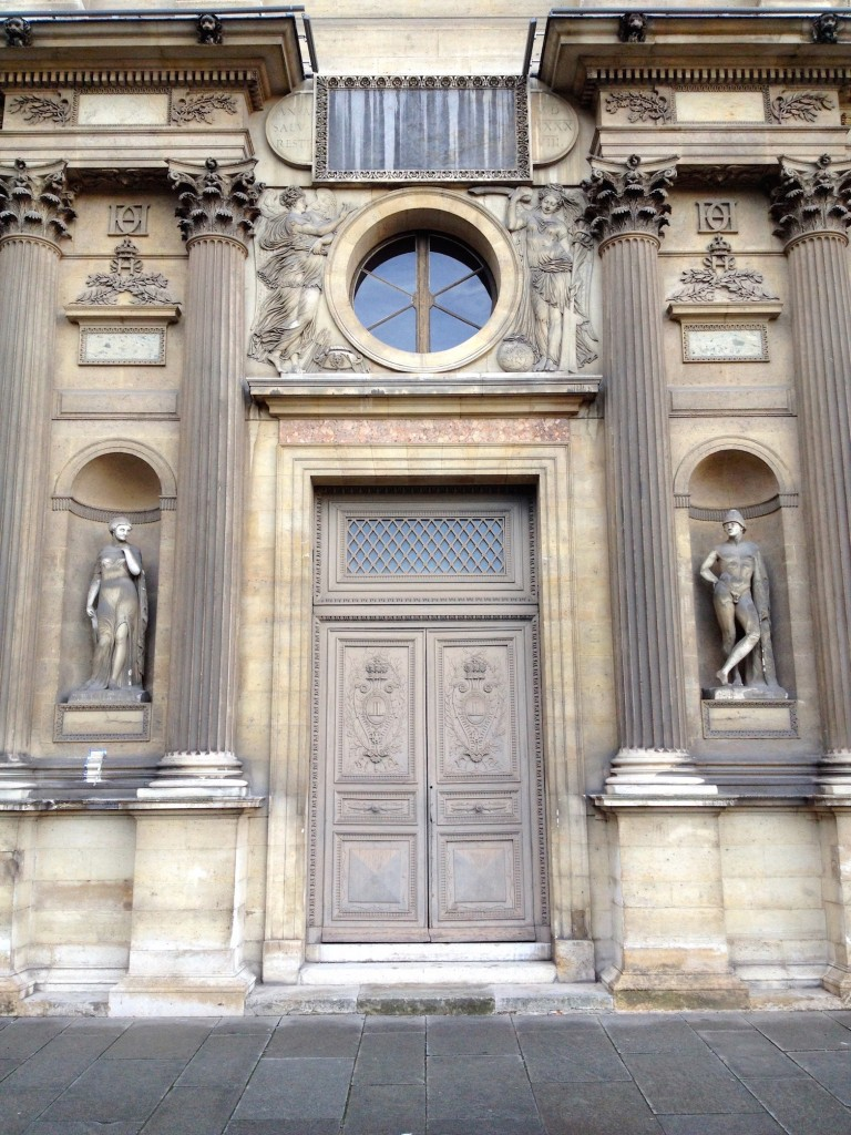 I took this door photo at the Louvre, and Kevin made me zoom out and re-take it because he felt that the nude statues really gave the photo some extra oomph.