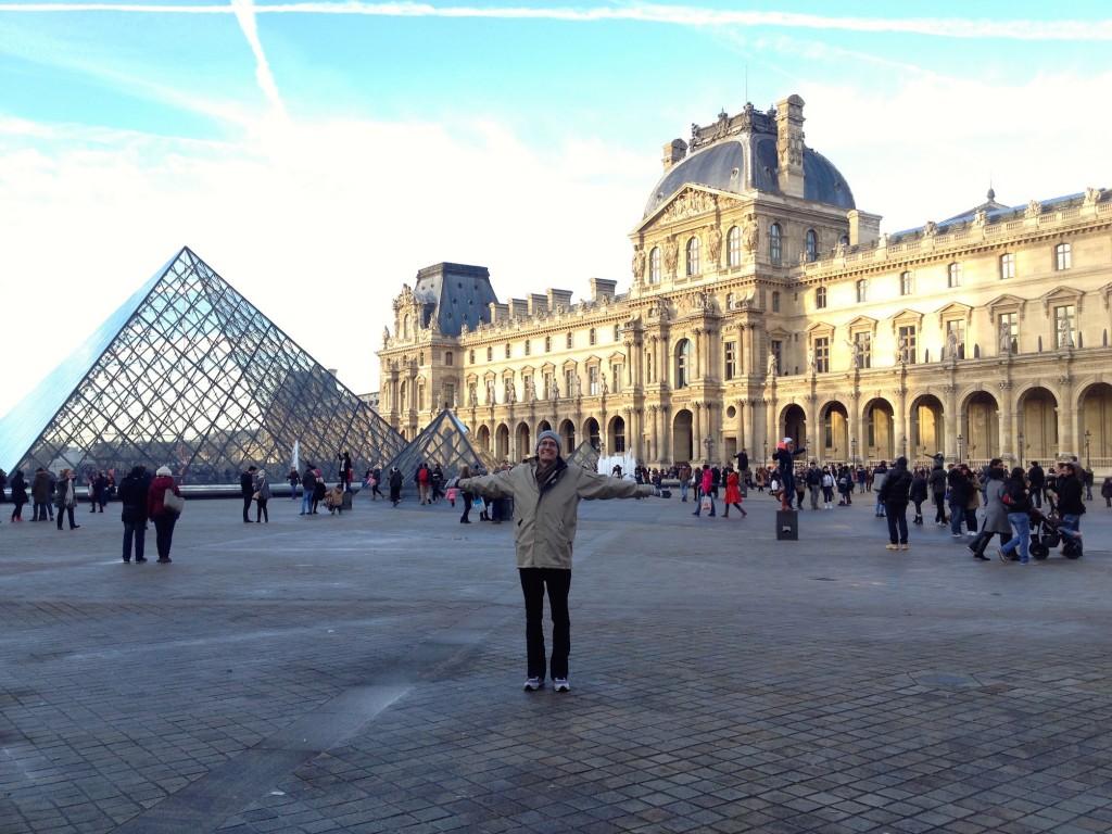 The Louvre pyramids.