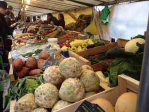 Huge veggie and fruit variety.