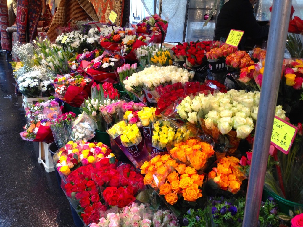 Beautiful flowers at the market.