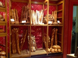 So Many Baguette Options! This is Chanterelle Bakery.