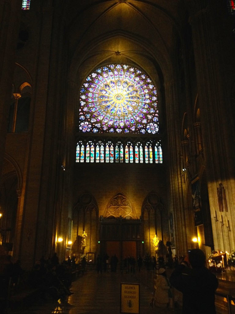 I sneakily tookone photo inside Notre Dame. Who can resist with beautiful stained glass like this?!