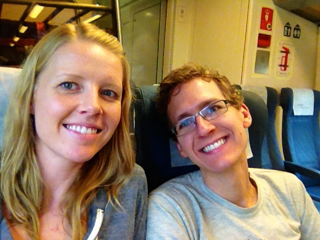 Here We Are, Enjoying Our Train Ride Which Came with SO MUCH LEG ROOM.