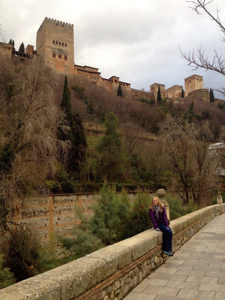 Granada's Famous Alhambra Is on the Hillside behind Me