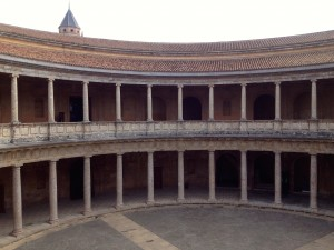 The Circular Courtyard in Charles V's Palace