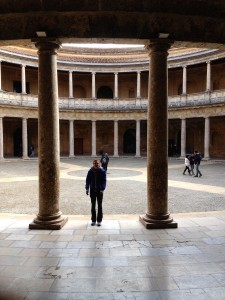 And here's Kevin, at Charles V's Palace