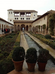 A Courtyard in the Generalife Gardens