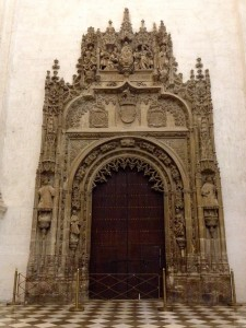 This is the door to the Royal Chapel. Looks like a big mouth waiting to eat anyone who passes through!